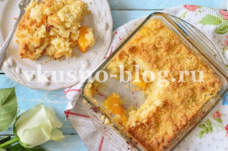 Персиковый крамбл рецепт