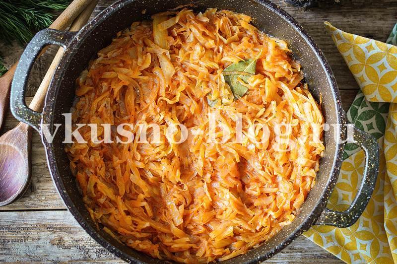 Тушеная капуста рецепт с томатом