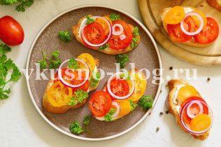 Гренки с помидорами закуска на скорую руку