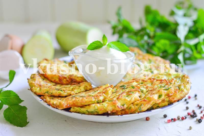 Кабачковые оладьи рецепт с зеленью