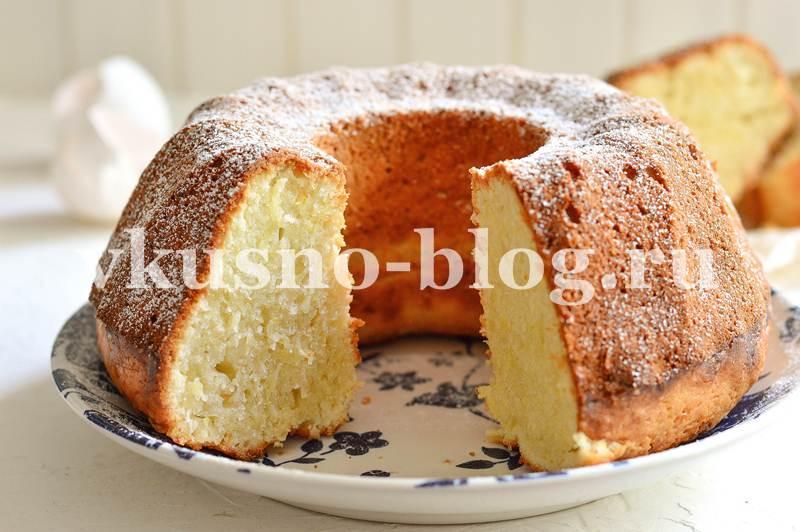Лимонный пирог с кабачком