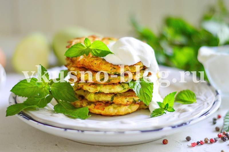 Оладьи из кабачков рецепт с зеленью