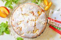 Пирог с нектаринами на кефире