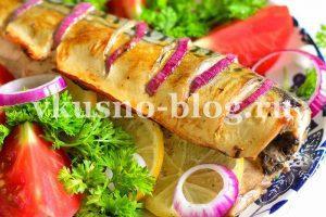 Скумбрия, запеченная в духовке с горчицей