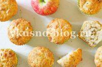 Маффины с яблоками на кефире