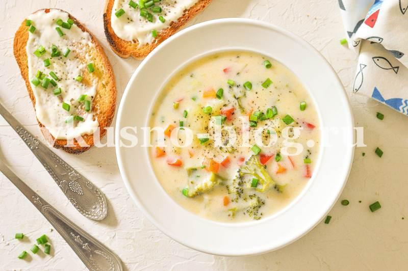 Сливочный суп с овощами рецепт