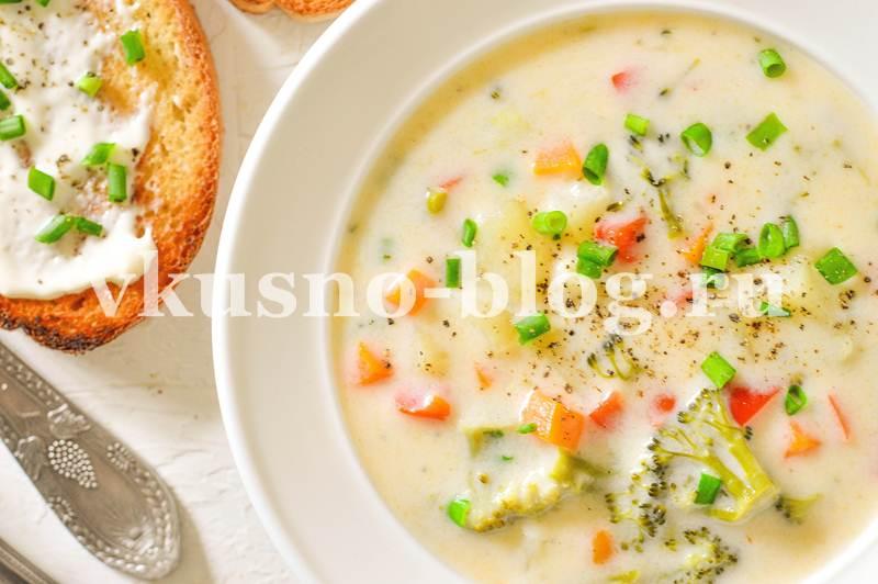 Сливочный суп с овощами