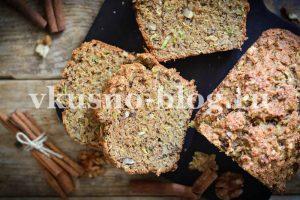 Сладкий цукини хлеб из цельнозерновой муки