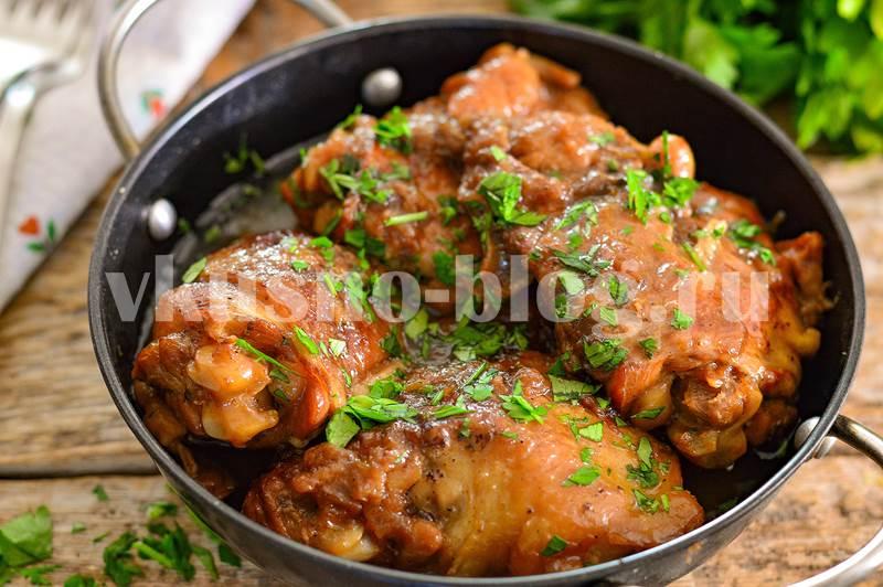 Курица по-еврейски с содой и луком фото