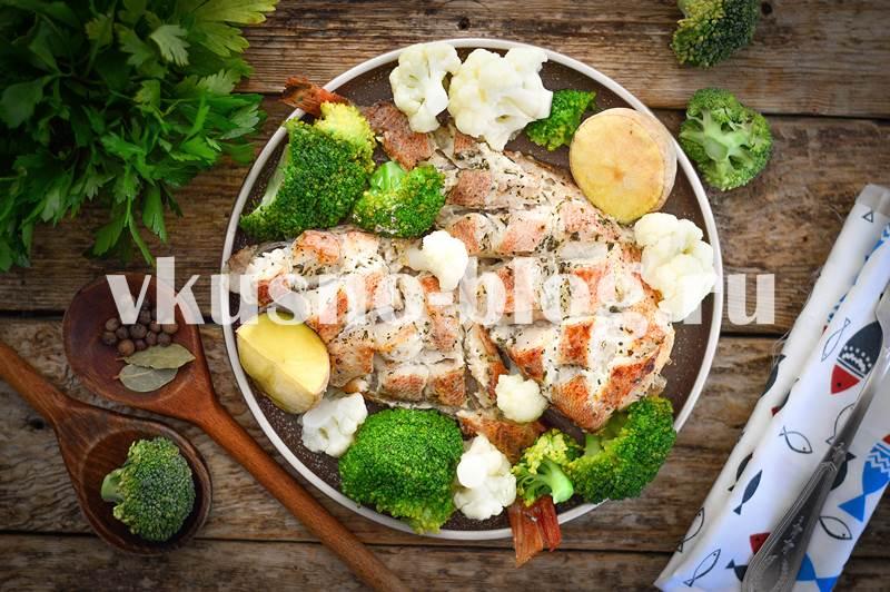 Морской окунь в духовке со сметаной рецепт фото